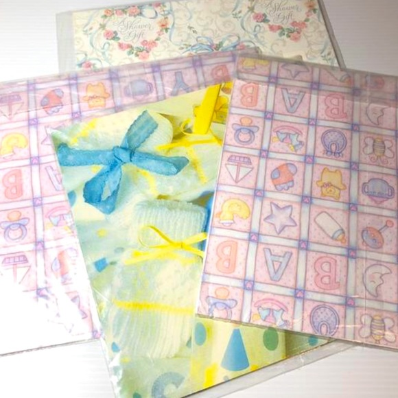 Vintage Baby Wrapping Paper Shower Sealed Hallmark